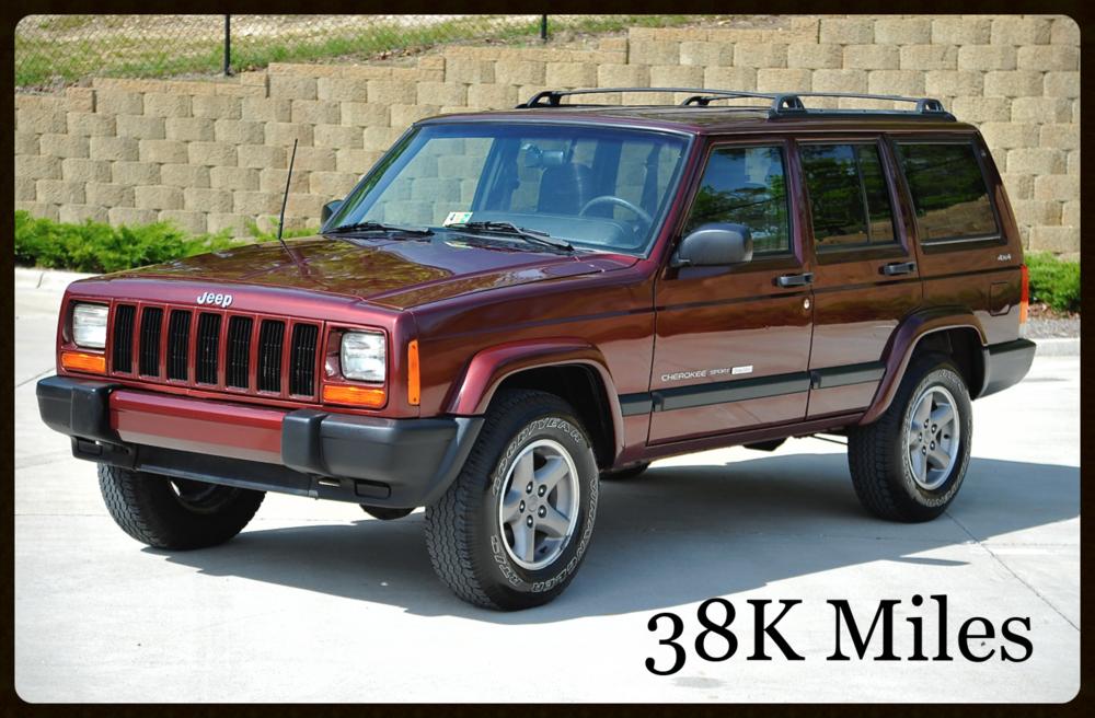 jeep cherokee xj sport for sale low mileage original. Black Bedroom Furniture Sets. Home Design Ideas