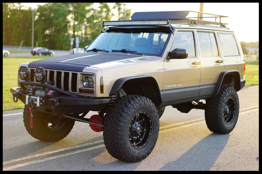 Our Jeeps moreover Wheel Offset 2000 Jeep Cherokee Super Aggressive 3 5 Suspension Lift 6 Custom Rims as well 1981 A Jeep Cj 5 Renegade Survivor Original Paint Lifted Cj 44 likewise 2018 Jeep  pass Specs Redesign Concept Change Engine Rumors Design Release Date in addition 304 Snorkel Kit Jeep Grand Cherokee Xj. on 2000 cherokee lifted