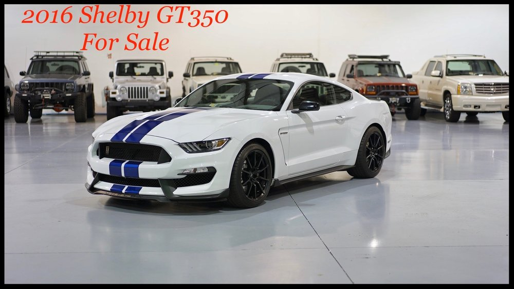 2016 Shelby GT350 with only 1700 Miles...This Shelby is Flawless....Recaro Seats and More...Click For More Pics and Video