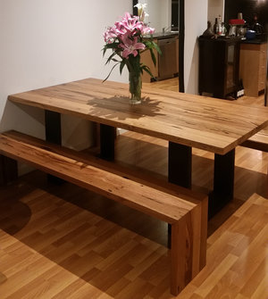 Bessie Dining Table With Lorelle Bench Seat 4