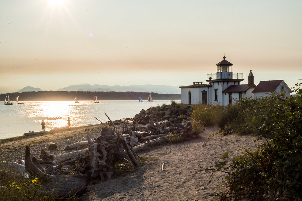 Caitlyn Lunsford's date night ideas #1 - Take a long walk. Photo was taken at Discovery Park in Seattle near the lighthouse.