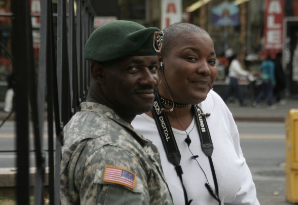 Portrait of Marvin and Jade, journalists and community activists, during my coverage of the 2008 Obama election for L'Organe Magazine