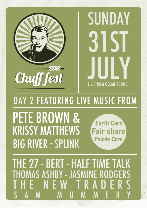 We are on the second day 31st July 2016 but go to the whole event...why not?  Buy your tickets here http://www.crowdfunder.co.uk/chuff-fest-2