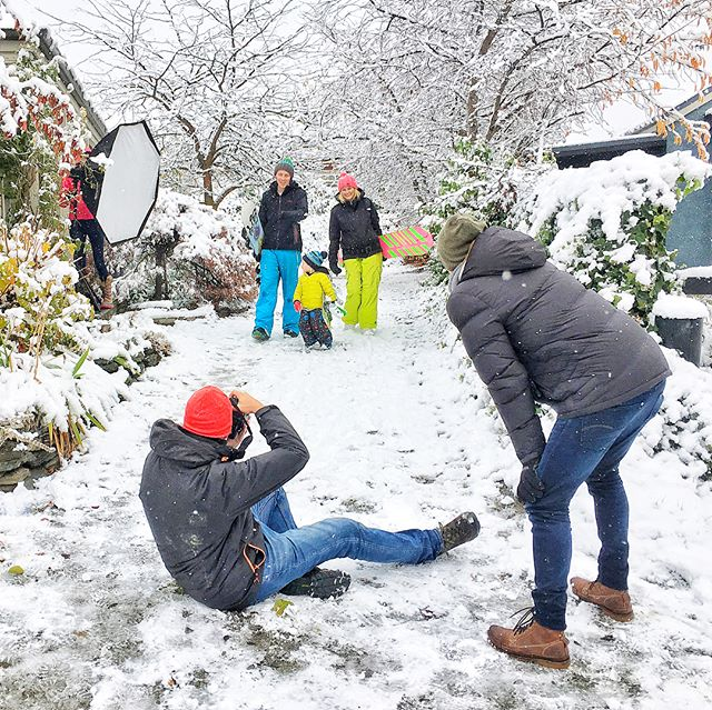 So good shooting in a very snowy #queenstown today for @bingeadvertising #NZ