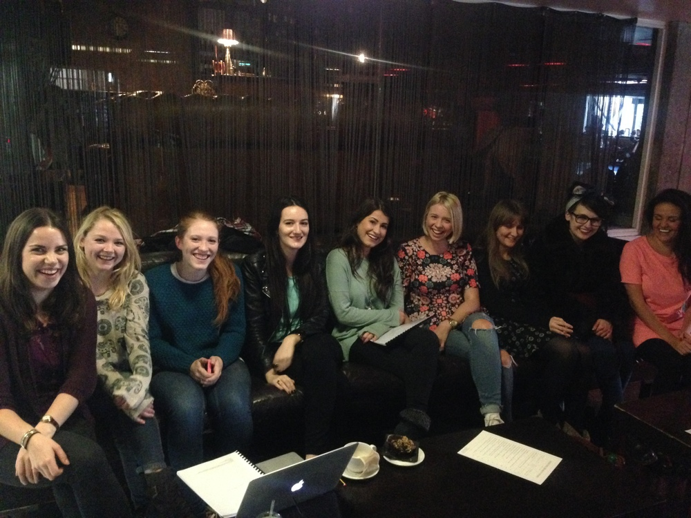 Sonya Creme, Effy Willis, Hannah Bury, Kerenza Qayum, Eva Crawford, Jodie Miller, Jayde Manning, Elinor O'Leary and Hayley Wilson.