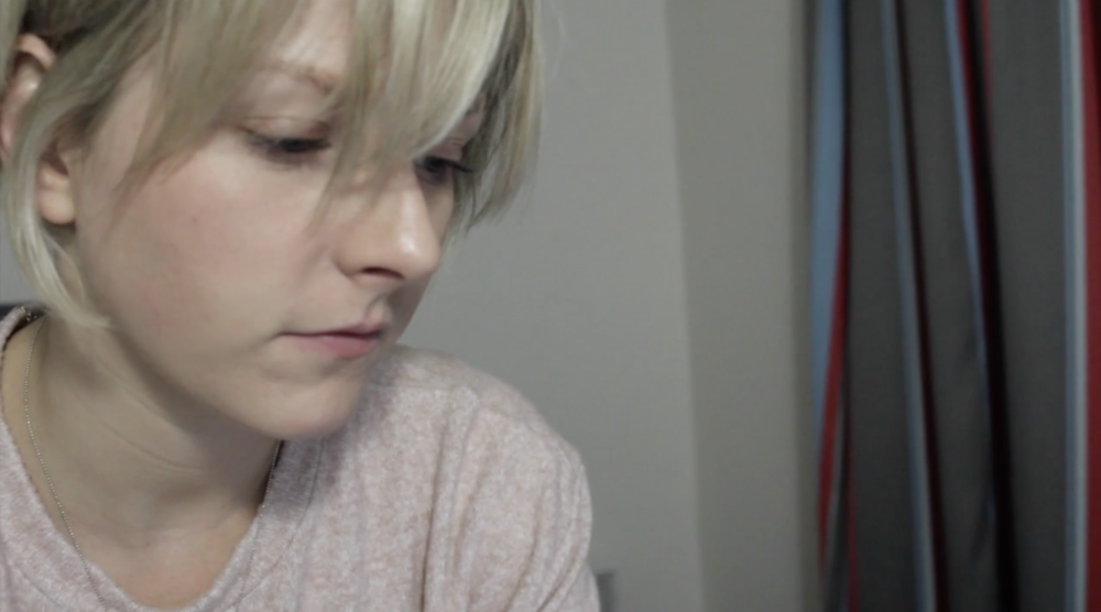 Eleanor Brown as Sylvie, Still from the Foxhole campaign video