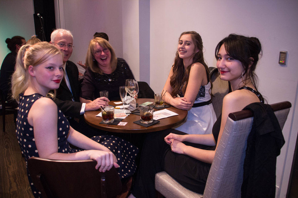 Poppy, Reanna Austin and their guests at the premiere of Foxhole