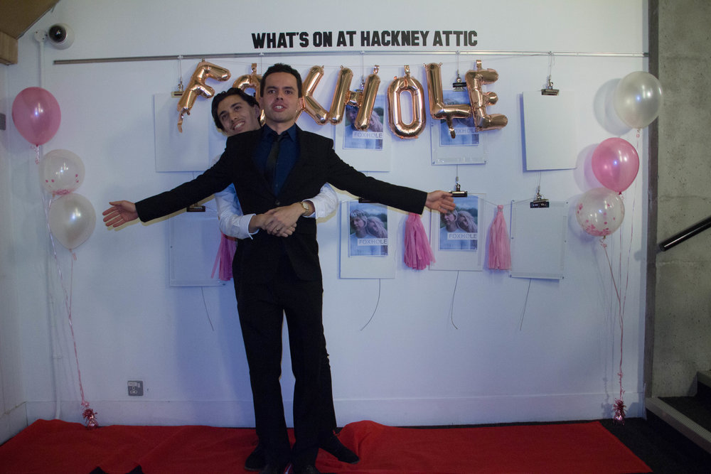 """Adam at the Foxhole premiere with co-star Ben Charlton creating a """"Titanic moment"""""""