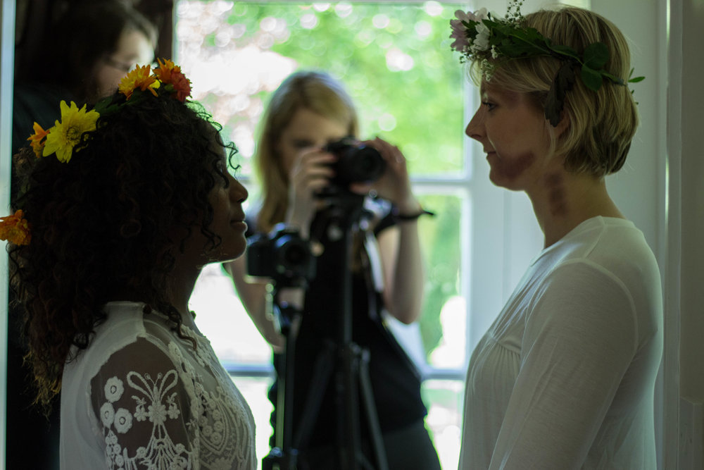 Eleanor on set with Mumbi Ramoni and director Caris Rianne