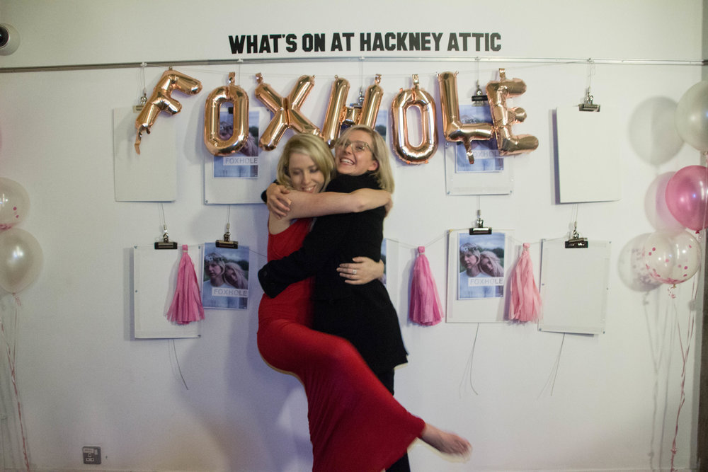 Eleanor at the premiere of Foxhole with director Caris Rianne