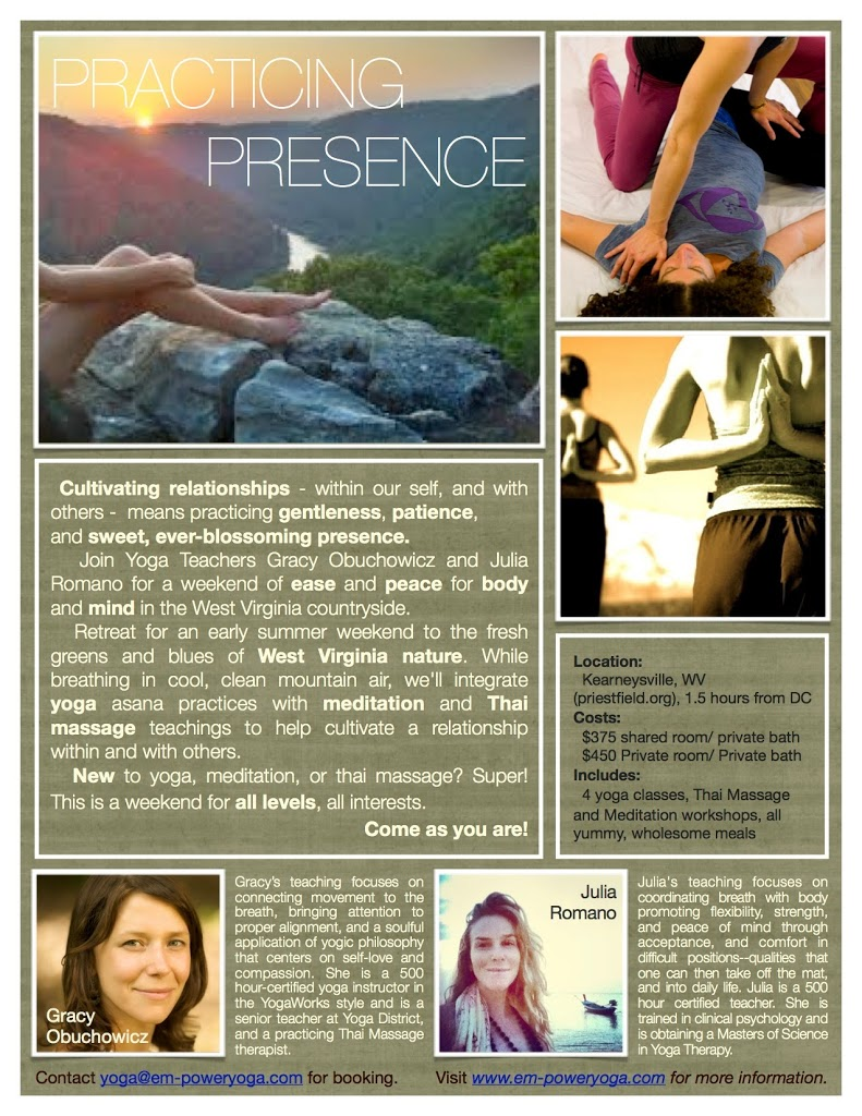 Yoga Retreat May 9 11th Self Care With Gracy