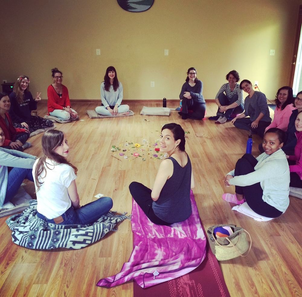 Check out this lovely closing circle from the beautiful retreat I just finished with Michelle Mae Orr in Harper's Ferry, VA.  We are leading another power weekend in West Virginia this July.  Stay tuned for details!