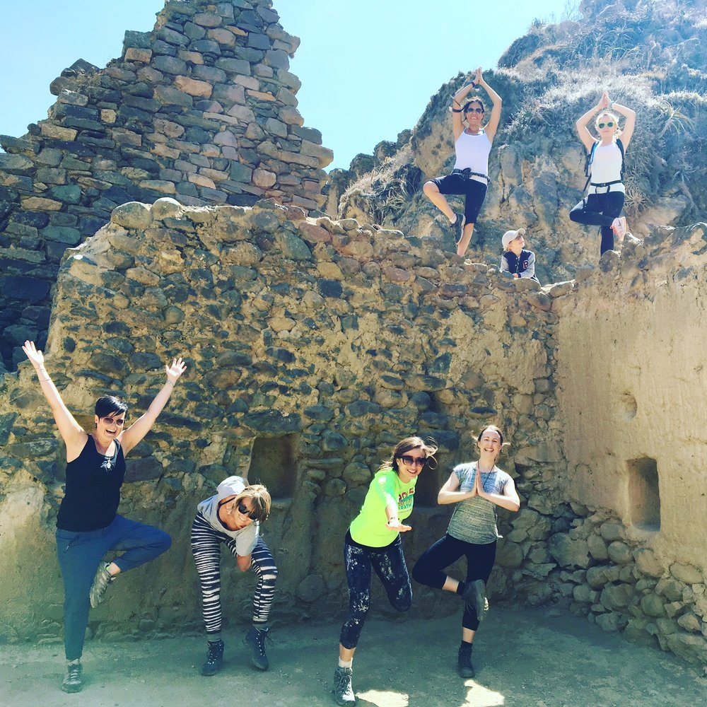 Yoga at the ruins--one of my favorite moments of the trip!