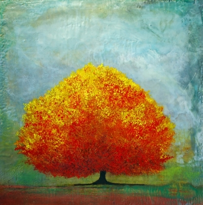 The Lone Red Tree