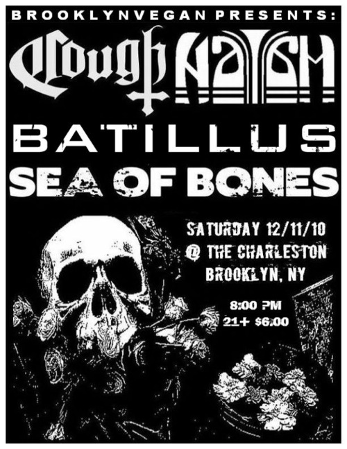Naam / Cough / Batillus / Sea of Bones - Flyer