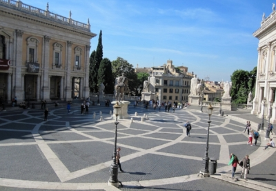 Current day  Campidoglio  in Rome  12- petal vesica star pattern