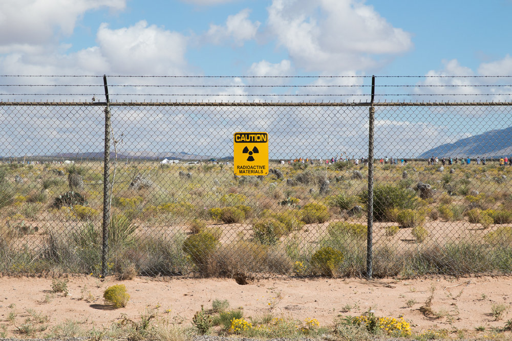 Outer fence line surrounding the Trinity Site, WSMR, New Mexico.