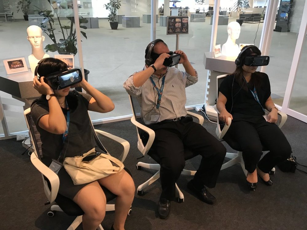 360 videos showcased using Samsung Gear VR