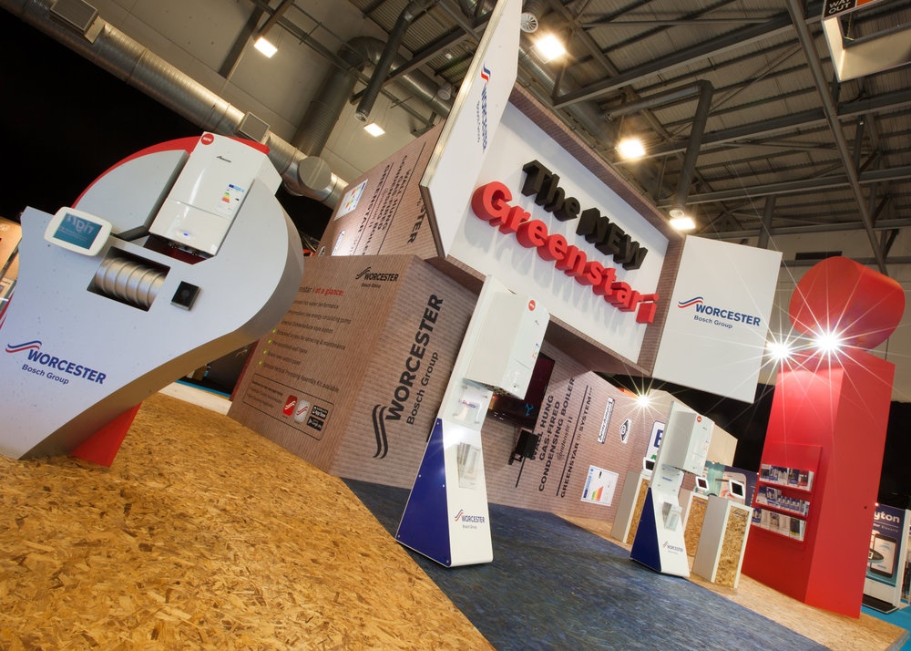 In collaboration with exhibition designers Large, we supplied design assets for this innovative launch stand for a new boiler launch for Worcester, Bosch Group.