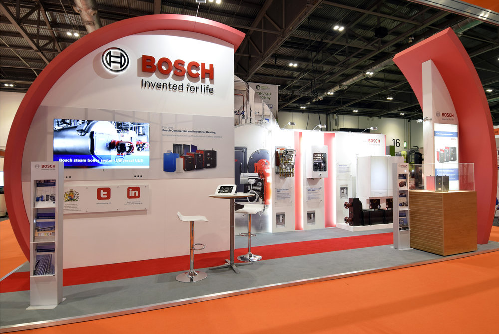 We supply design assets for Bosch Commercial stands that are at events all over the country.