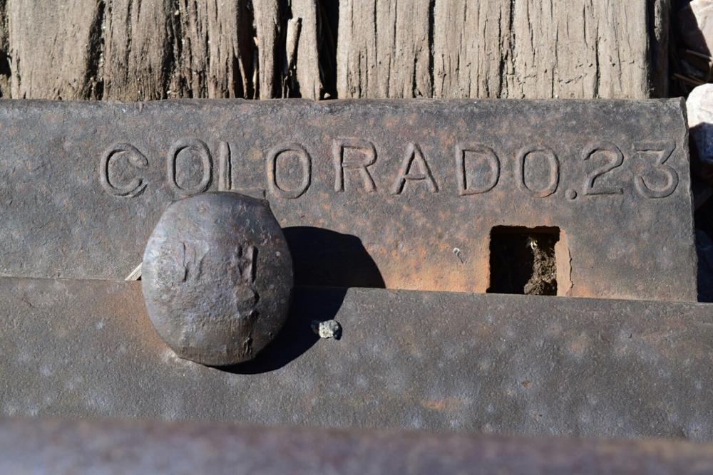 Railroad ties in Denver.