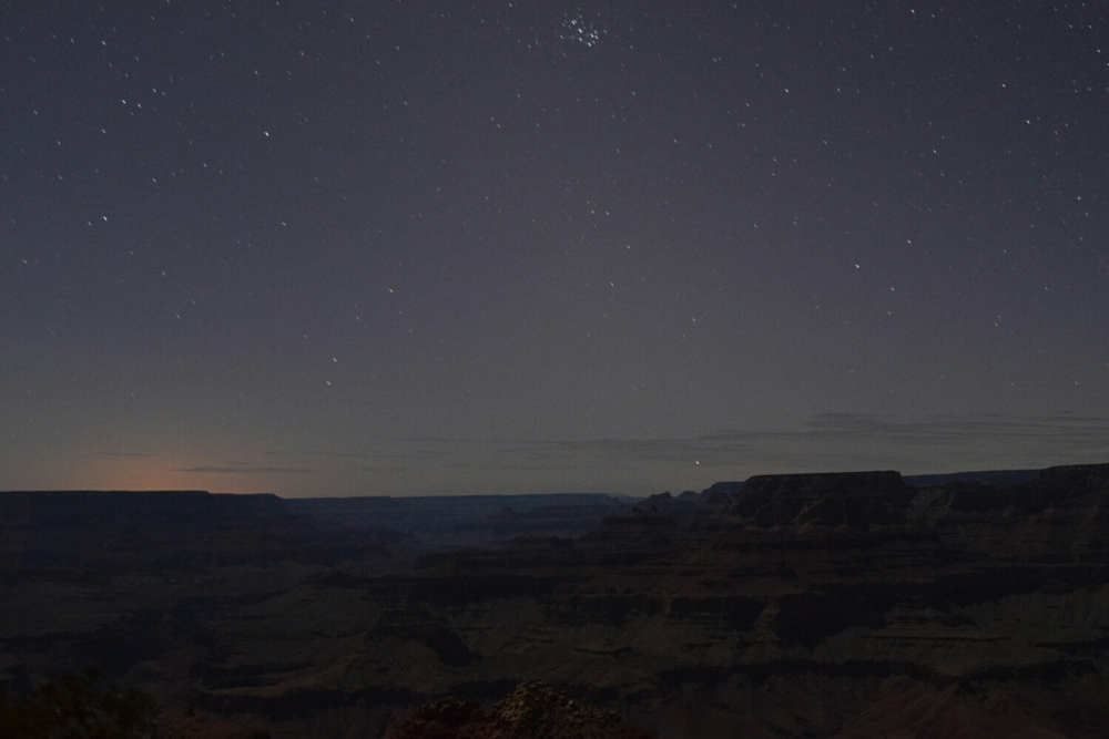 The Little Dipper above the Grand Canyon