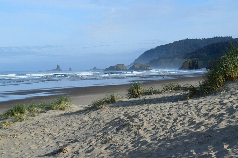 Morning at Cannon Beach, OR.