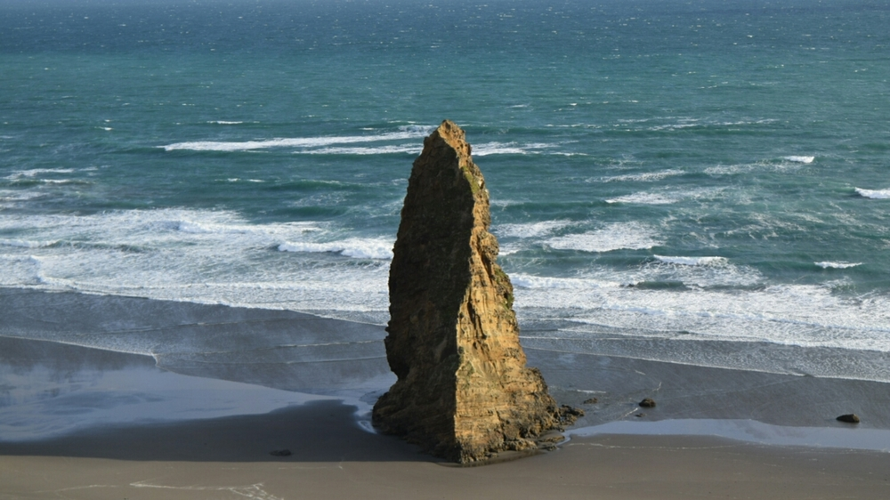 A rock structure at Cape Blanco, OR.