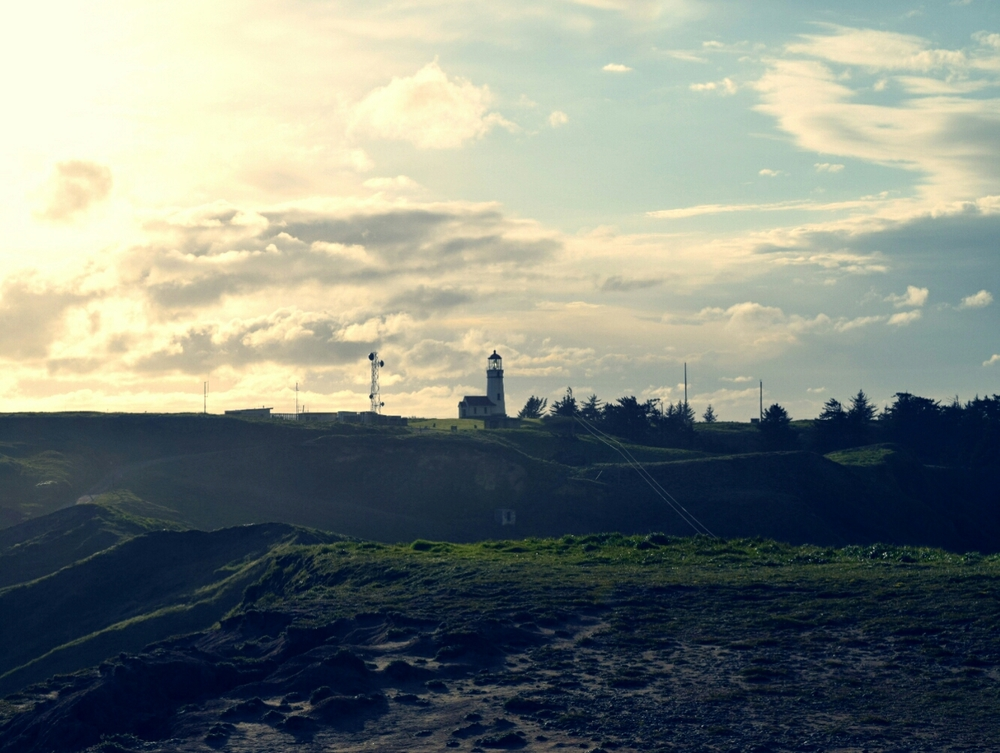 Sunset at the Cape Blanco Lighthouse.