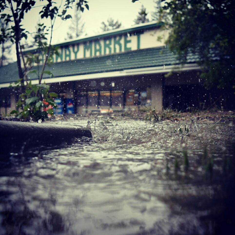 Rain in Idyllwild, CA, a zero mile day.