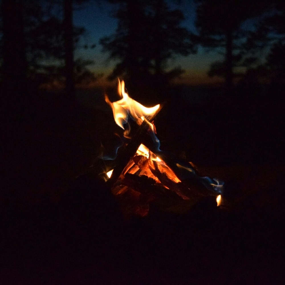 Tonight's sunset and campfire, Mile 379.5, 8,688 feet elevation