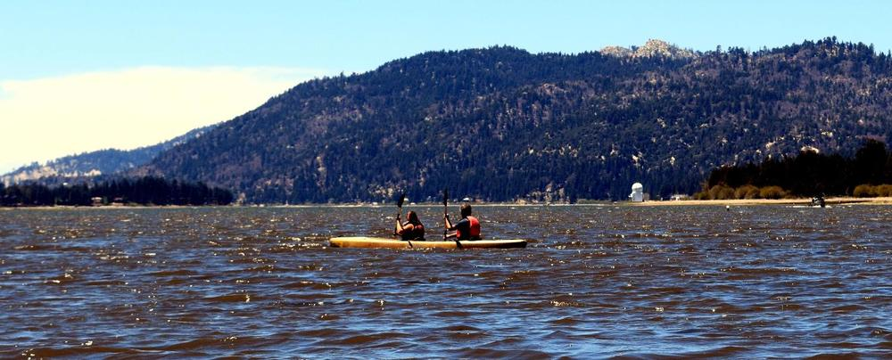 Kayakers on Big Bear Lake