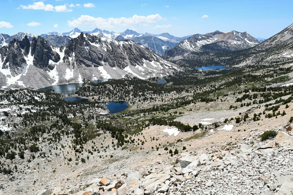 Facing west on Kearsarge Pass