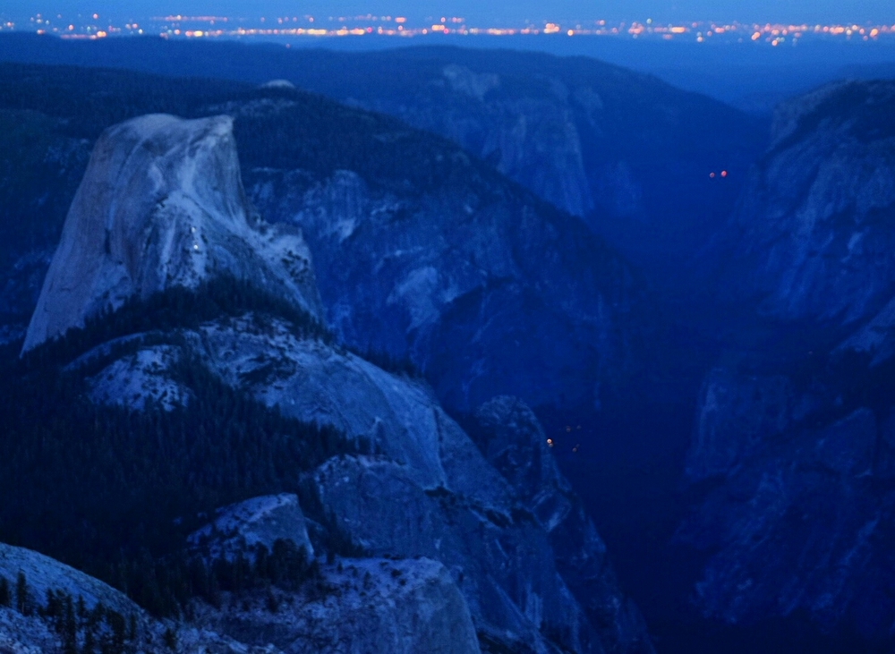 A view of Half Dome from Cloud's Rest just before dawn.