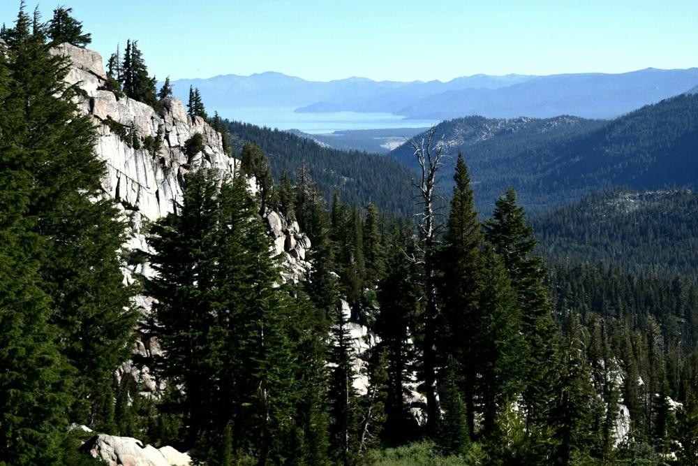 A view of Echo Lake near South Lake Tahoe