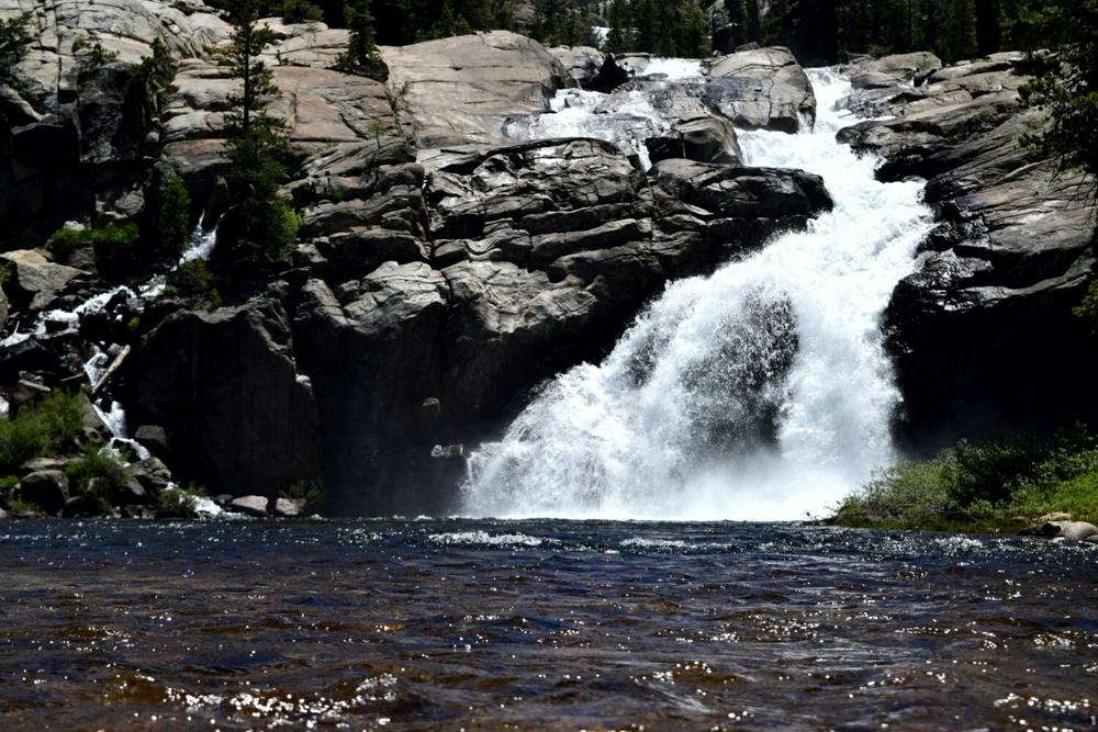 Tolumne Falls at the Glen Aulin campsite