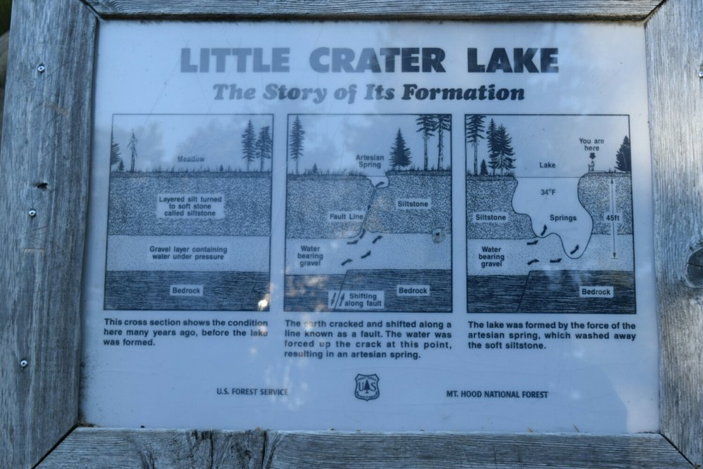 Little Crater Lake description of origin