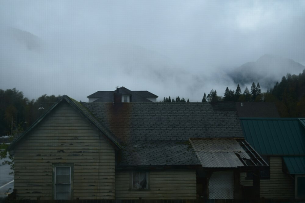 My hotel room view of Skykomish, Washington