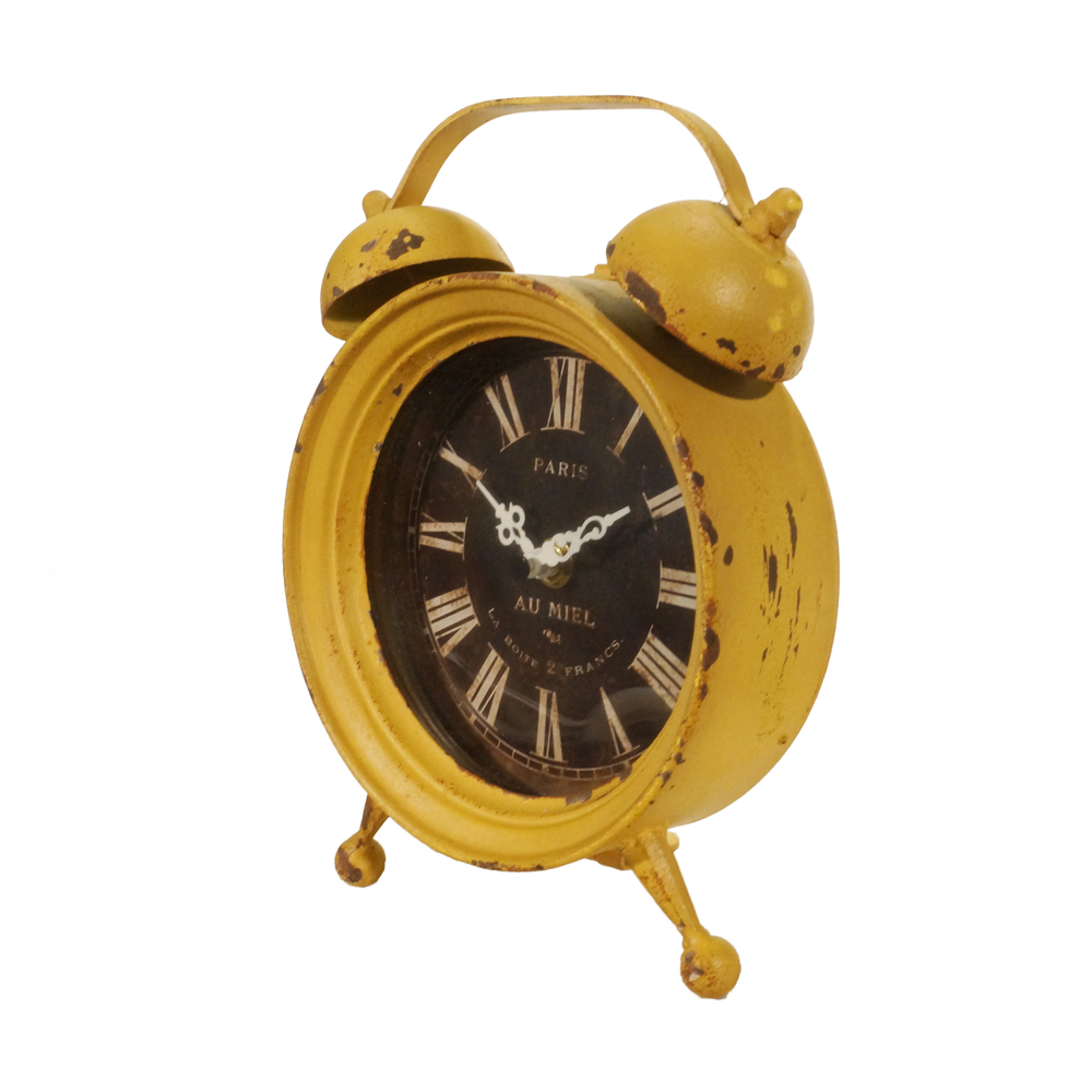 Vintage Yellow Table Clock