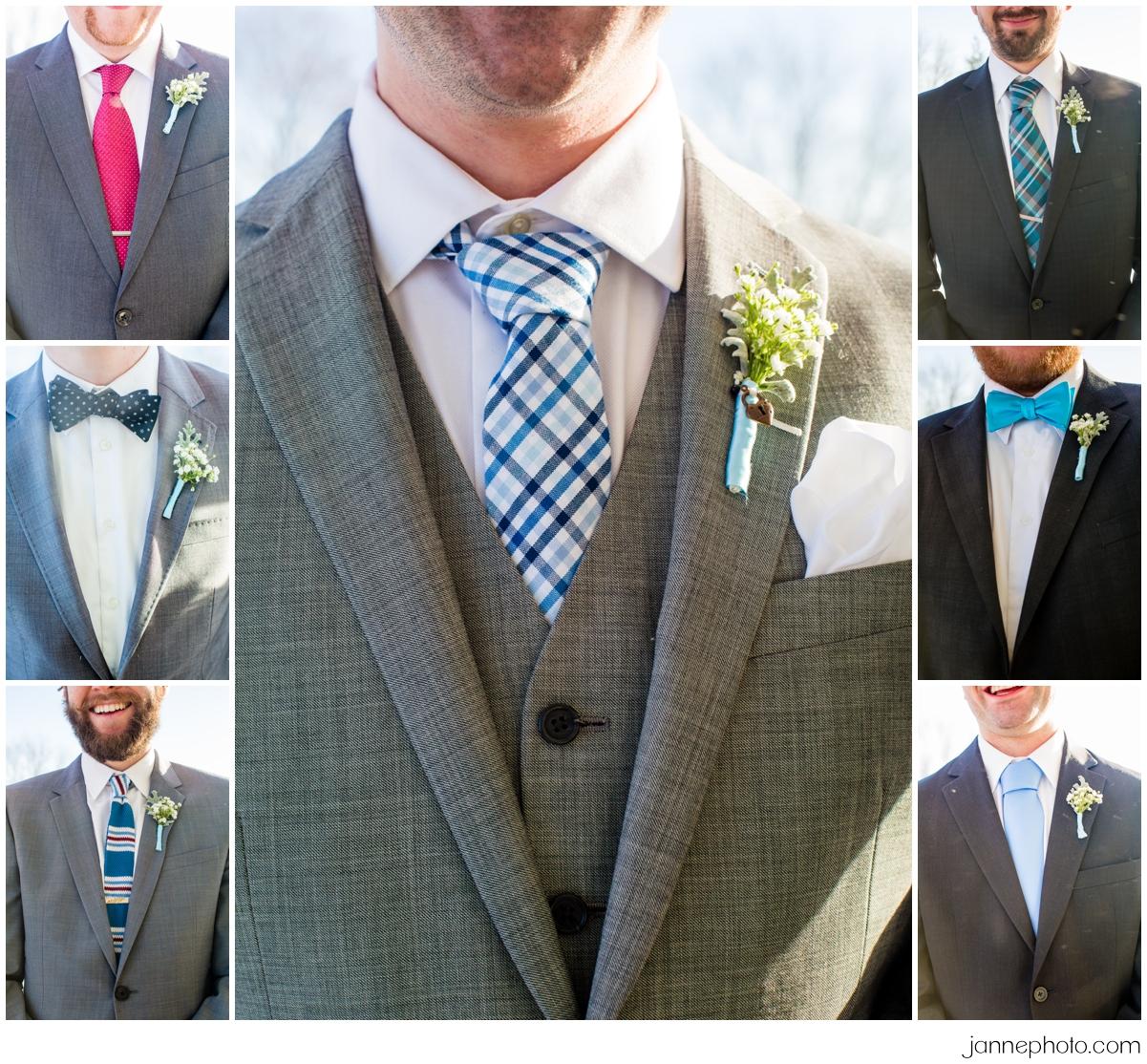 Different-ties-groomsmen-winter-wedding