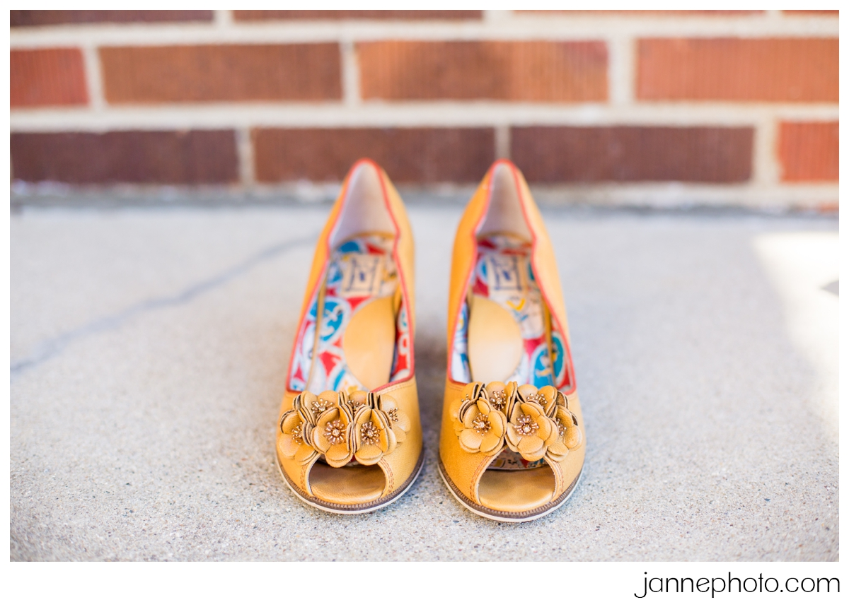 vintage-yellow-wedding-shoes