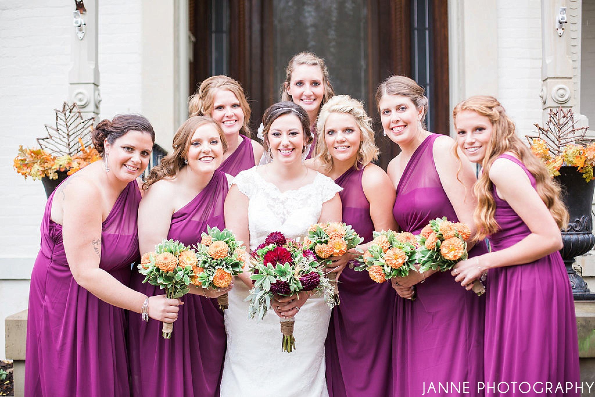 Cincinnati_Wedding_Fall_Flowerman_Purple_Bridesmaid