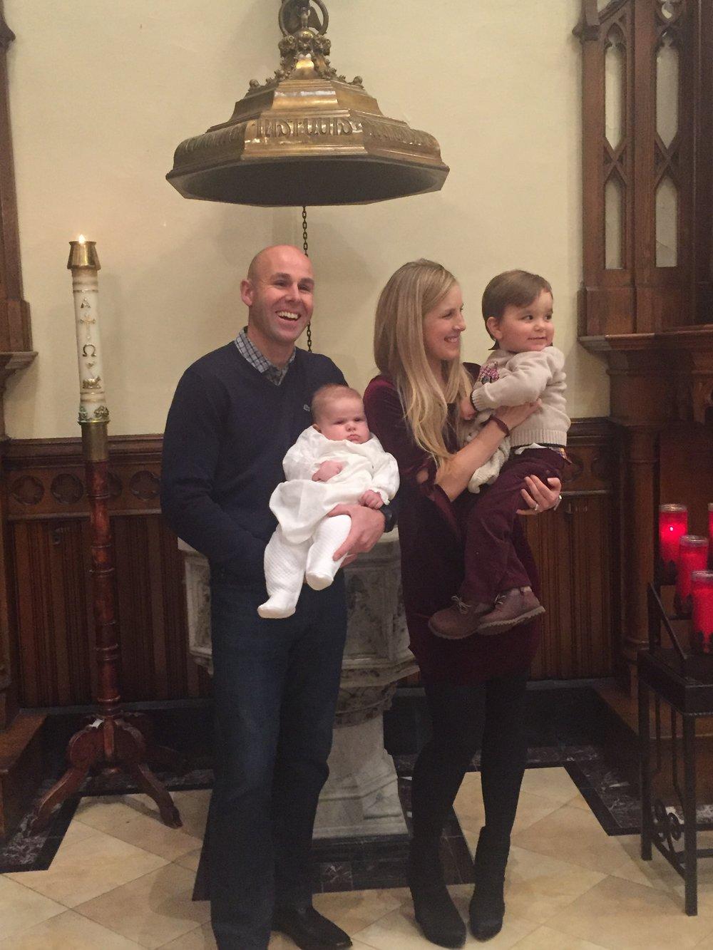 At Sebastian's Christening last month