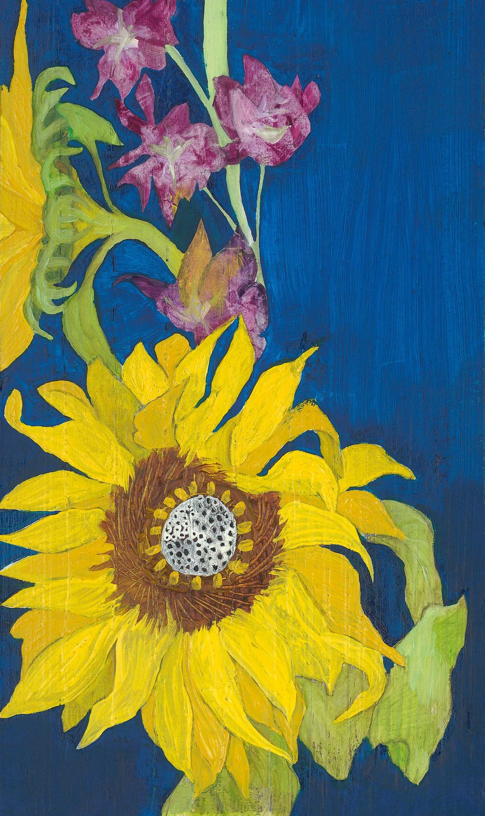 My sunflower, oil on board, 2014