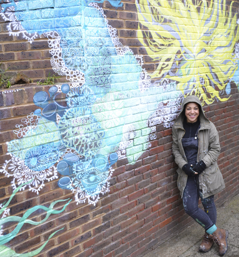 Follow the Lichen - I am currently working on a mural in Archway, Islington… more details coming soon!