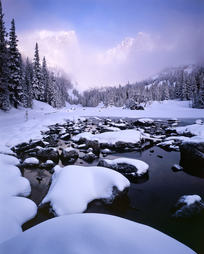 Clearing Winter Storm at Dream Lake