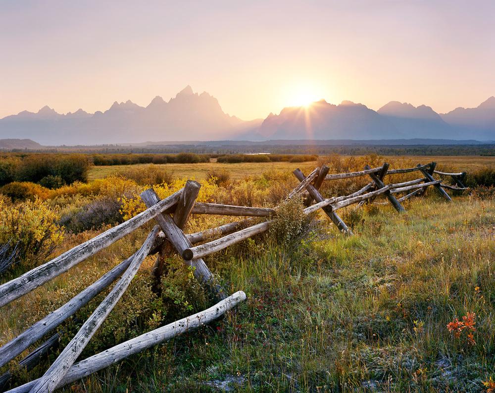 Teton Fence Sunset