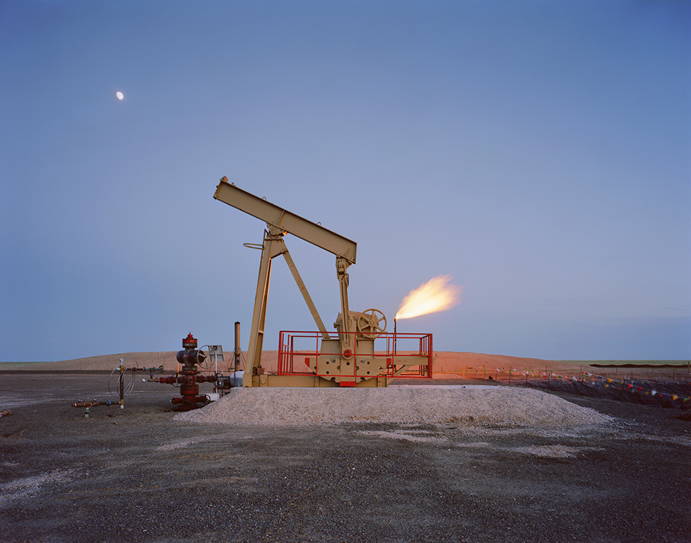 Pumpjack and Flame