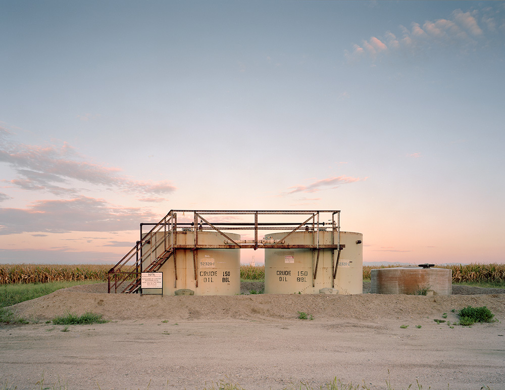 """""""Tanks and Grain Elevator"""" - Portra 160 example showing the soft color palette."""
