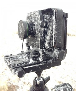 Snow covered 4x5